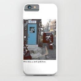 Retro blue studio  iPhone Case