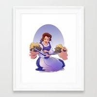 belle Framed Art Prints featuring Belle by Samanthadoodles