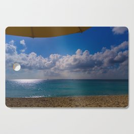 Seaside Under Umbrellas Cutting Board