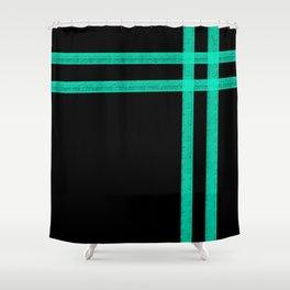 Mint Strip Shower Curtain