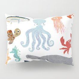 Sea Change: Ocean Animals Pillow Sham