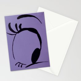 Curiosity in VIOLET Stationery Cards