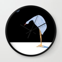 """Weight of the World"" Paulette Lust's whimsical, colorful, original, contemporary, art.  Wall Clock"