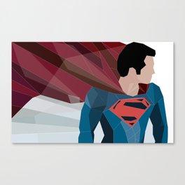 Man of Steel Geometry  Canvas Print