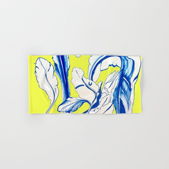Plant in Blue Marker - Leaf of Life Miracle Leaf - Yellow Hand & Bath Towel