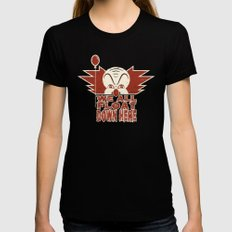 We All Float  Womens Fitted Tee SMALL Black