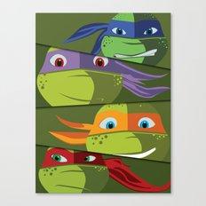 Teenage Mutant Ninja Turtles Vector Art Canvas Print