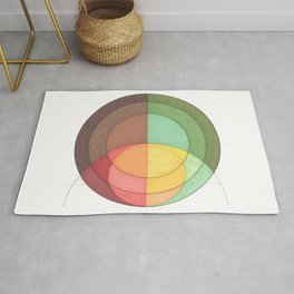 Concentric Circles Forming Equal Areas Rug