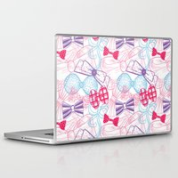bows Laptop & iPad Skins featuring Bows by Wendy Ding: Illustration