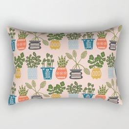Plants in Pots Print Rectangular Pillow