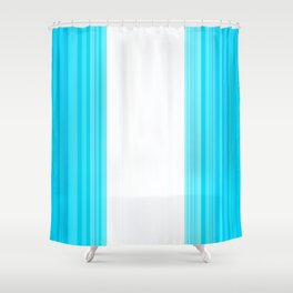 Guatemalan flag stylized design Shower Curtain