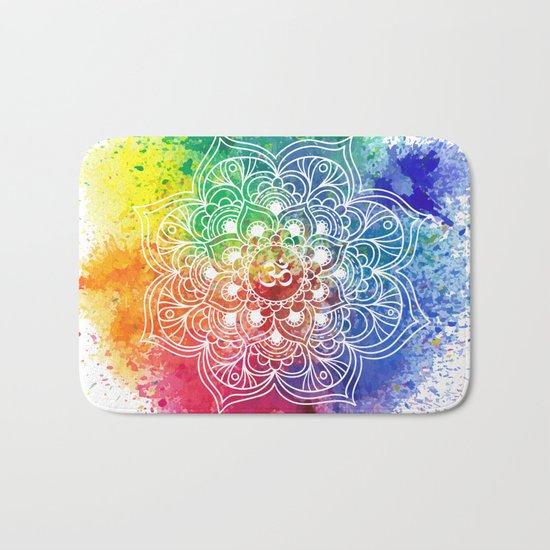 Multicolor mandala Bath Mat