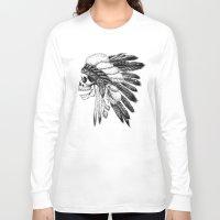 american Long Sleeve T-shirts featuring Native American by Motohiro NEZU