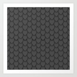 Dragon Scales in Black Art Print