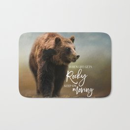 Grizzly On The Rocks Bath Mat