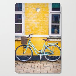 Bike and yellow Cutting Board