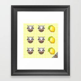 Milk Milk Lemonade Emoji Framed Art Print