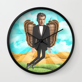 Pierce Brosnan my messiah Wall Clock