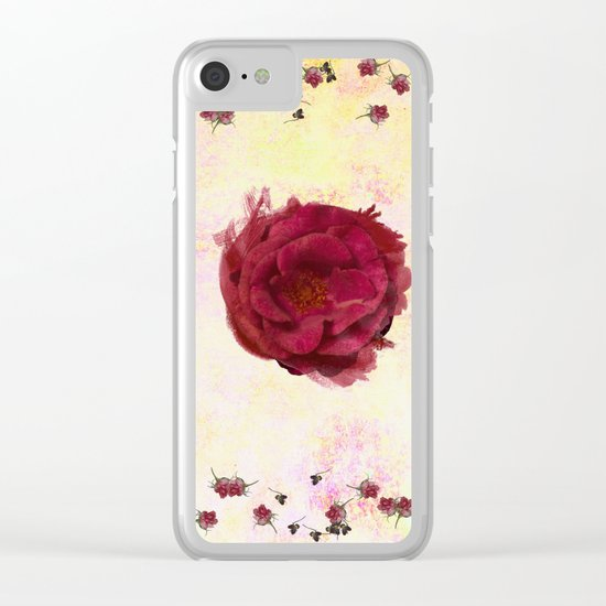Sweet Aroma Rose Clear iPhone Case