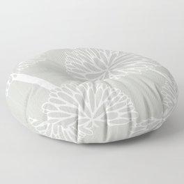 Pom Poms in Grey by Friztin Floor Pillow