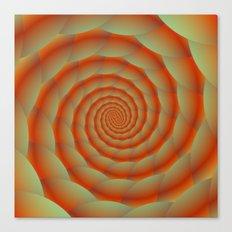 Orange Snake Skin Spiral Canvas Print