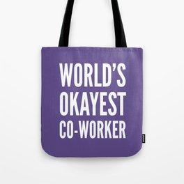 World's Okayest Co-worker (Ultra Violet) Tote Bag