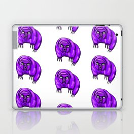 Purple Repeating Tardigrades Pattern Pop Art Laptop & iPad Skin