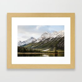 Mountains of Spray Lakes Framed Art Print