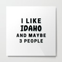 I Like Idaho And Maybe 3 People Metal Print
