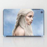daenerys iPad Cases featuring Khaleesi (Blue Sky) by Jason Cumbers