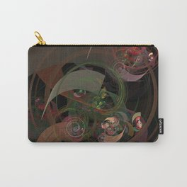 Abstract Fractal Spiral Carry-All Pouch