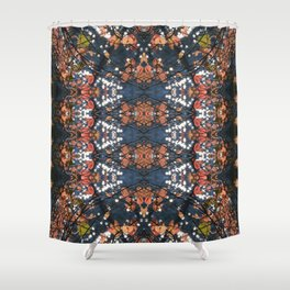 Autumnal mosaic Shower Curtain