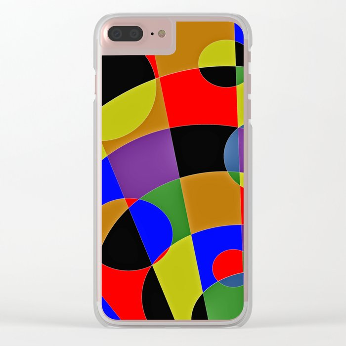 Abstract #95 Gravity Clear iPhone Case