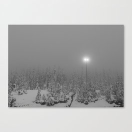 Dark day in the mountains Canvas Print