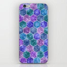 Frozen Leaves in Hexagonal Pattern iPhone Skin