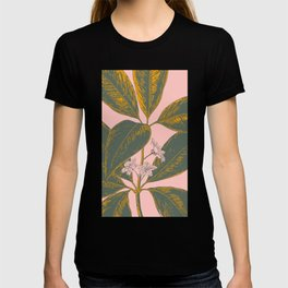 Modern Botanical Banana Leaf T-shirt