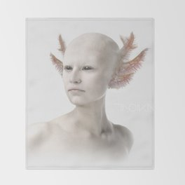 Troika zero-one Throw Blanket
