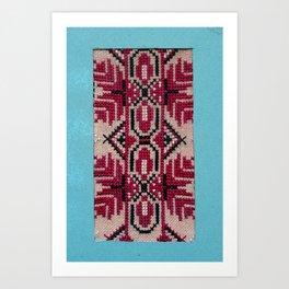 traditional bulgarian embrodeiry art Art Print