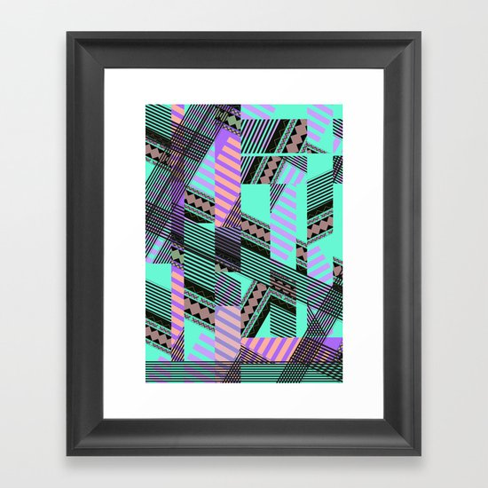 ELECTRIC TUNELS /// Framed Art Print
