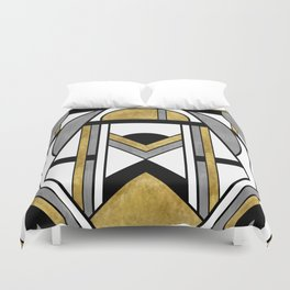 Up and Away - Art Deco Spaceman Duvet Cover