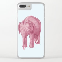 Pink elephants and the emperor of icecream Clear iPhone Case