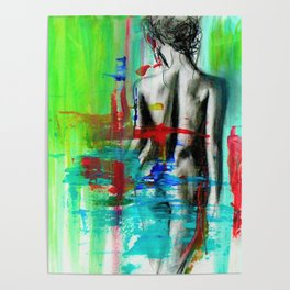 Nude Female Abstract Poster