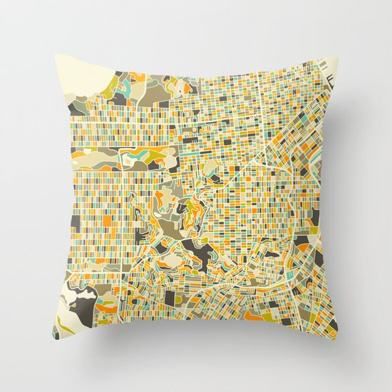 San Francisco Map Throw Pillow by Jazzberry Blue Society6