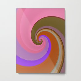 Swirls of Color Metal Print