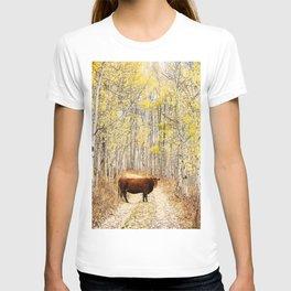 Cow in aspens T-shirt
