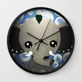 Punky Pachyderm - Blue Wall Clock