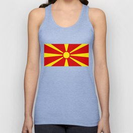 Macedonian national flag Unisex Tank Top