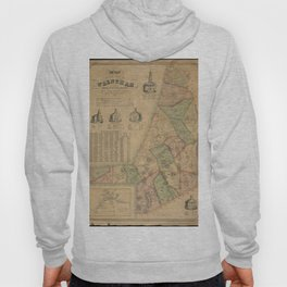 Henry F Walling - Map of the Town of Wrentham, Norfolk County, Massachusetts (1851) Hoody