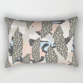 Begonia Maculata Leaves #illustration Art Print#botanical Rectangular Pillow