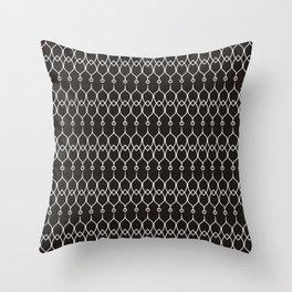 Black and White Elegant Pattern Throw Pillow